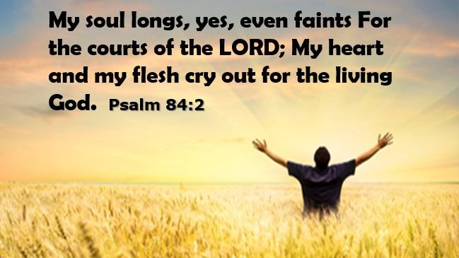 CRYING OUT FOR THE LIVING GOD
