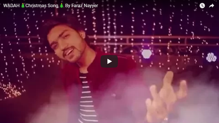 WADAH 🎄Christmas Song 🎄 By Faraz Nayyer | Pakistani Singer