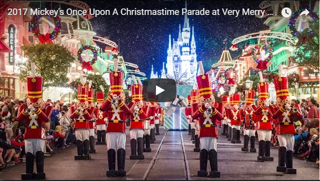 2017 Mickey's Once Upon A Christmastime Parade at Very Merry Christmas Party – w/ Princesses, Frozen