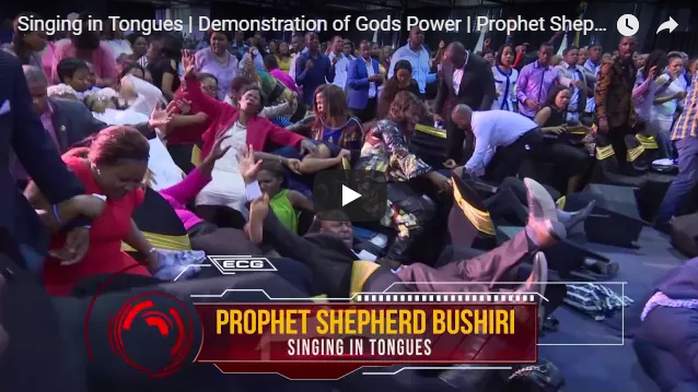 Singing in Tongues | Demonstration of Gods Power | Prophet Shepherd bushuri