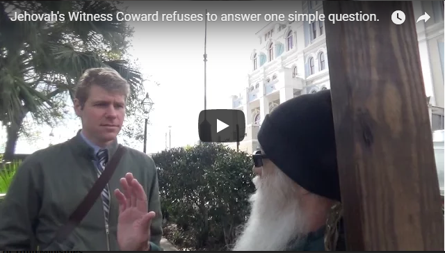 Jehovah's Witness Coward refuses to answer one simple question.