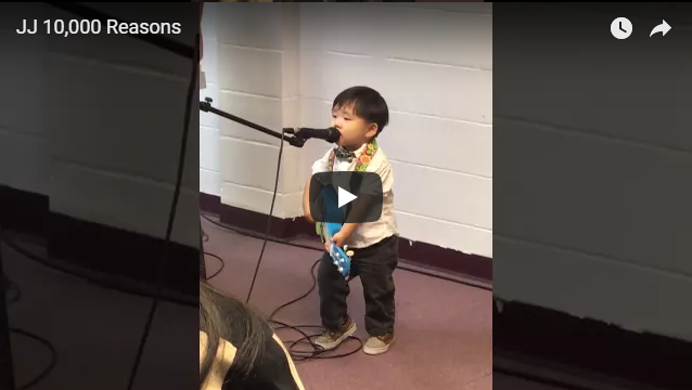 (2.5 years old) performing for Christian Song
