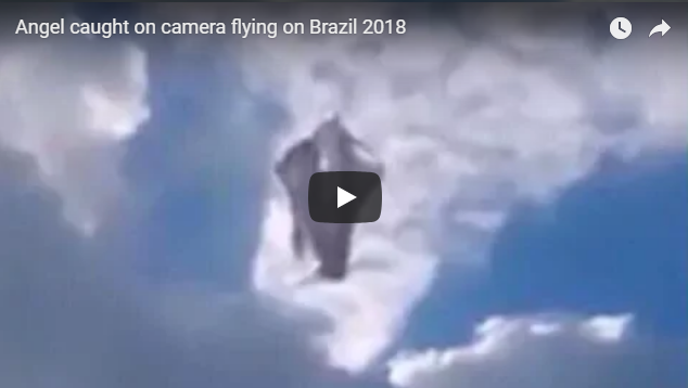 Angel caught on camera flying on Brazil 2018