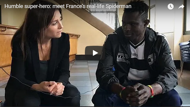 Humble super-hero: meet France's real-life Spiderman | Christian Talent