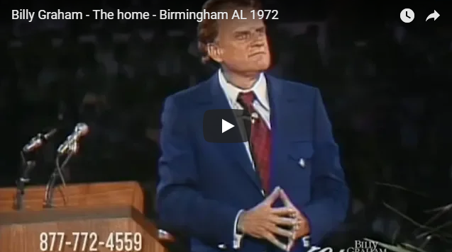 Billy Graham – The home – Birmingham AL 1972