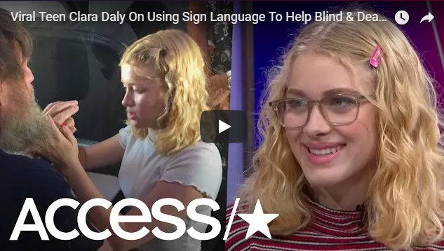 Teen uses sign language to help blind and deaf passenger aboard flight