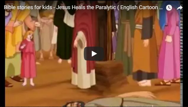 Bible stories for kids – Jesus Heals the Paralytic ( English Cartoon Animation )