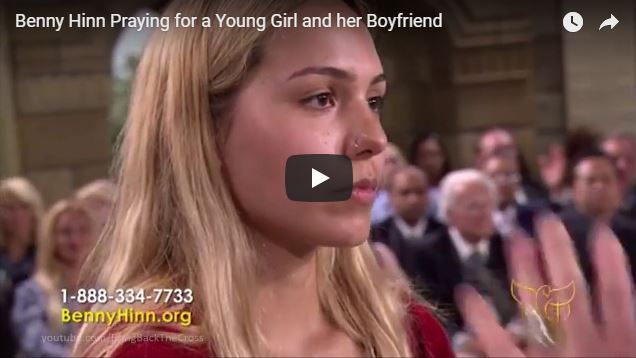 Benny Hinn Praying for a Young Girl and her Boyfriend