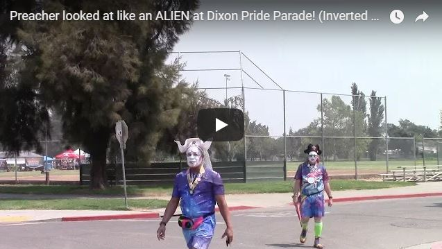 Preacher looked at like an ALIEN at Dixon Pride Parade! (Inverted Reality)
