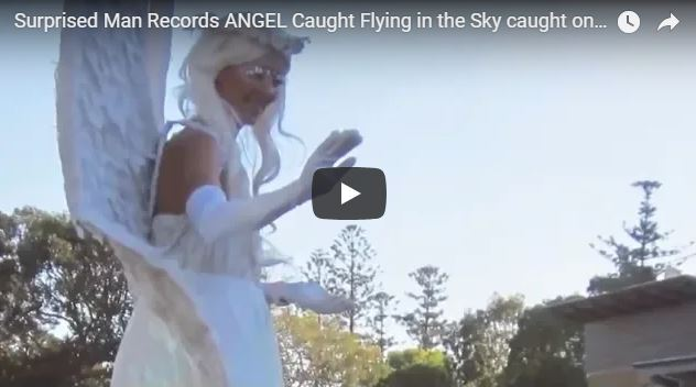 Surprised Man Records ANGEL Caught Flying in the Sky caught on camera