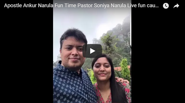 Apostle Ankur Narula Fun Time Pastor Soniya Narula Live fun caught on camera