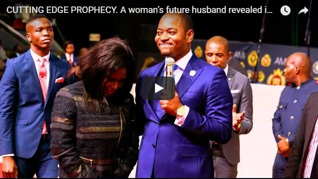 CUTTING EDGE PROPHECY. A woman's future husband revealed in church, and he shows up after 25min