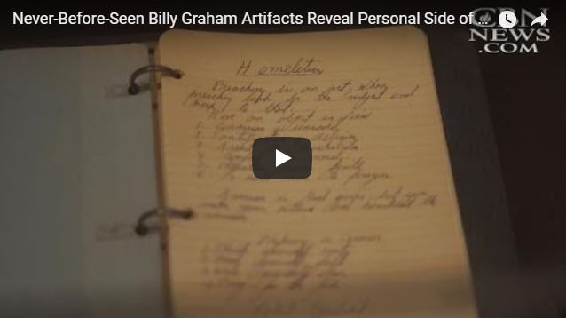 Never-Before-Seen Billy Graham Artifacts Reveal Personal Side of America's Pastor