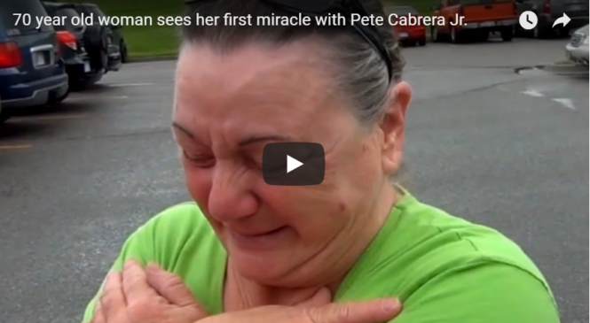 70 year old woman sees her first miracle with Pete Cabrera Jr.