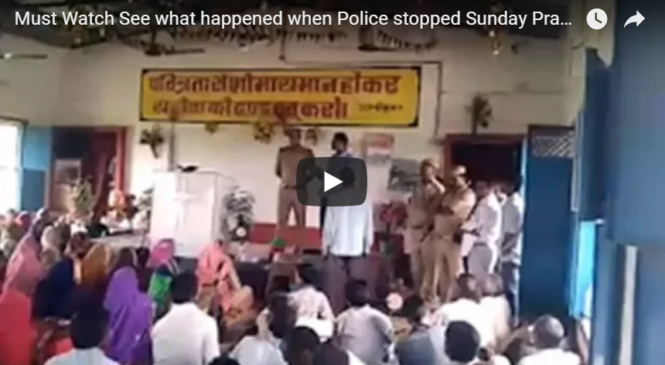 Must Watch See what happened when Police stopped Sunday Prayer Service