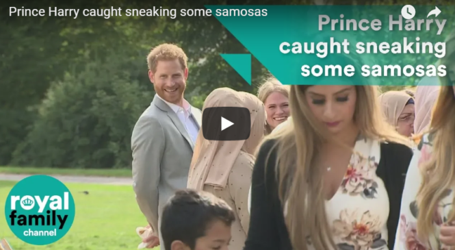 Prince Harry caught sneaking some samosas