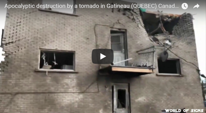 Apocalyptic destruction by a tornado in Gatineau (QUEBEC) Canada 21 Sept. 2018