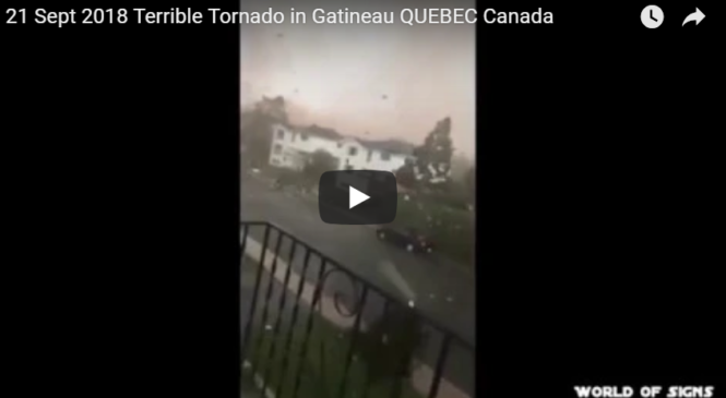 caught on camera | 21 Sept 2018 Terrible Tornado in Gatineau QUEBEC Canada