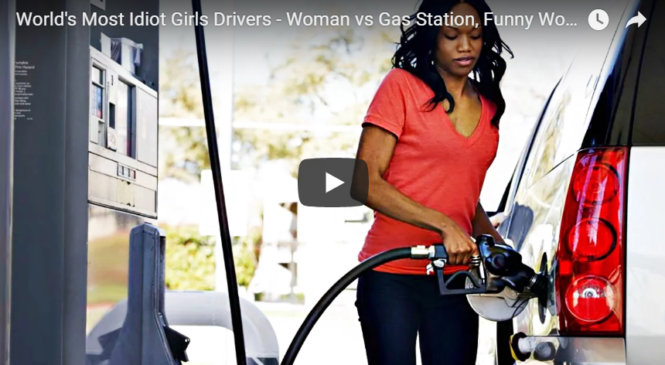 World's Most Idiot Girls Drivers – Woman vs Gas Station, Funny Women Driving Fails