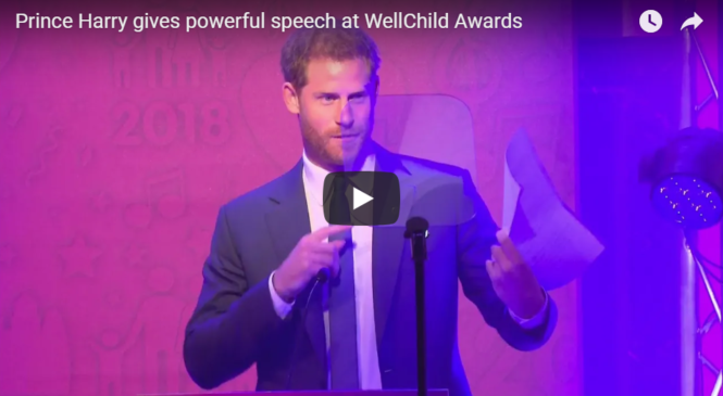 Prince Harry gives powerful speech at WellChild Awards