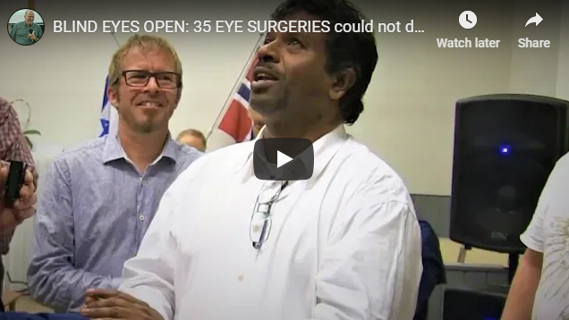 BLIND EYES OPEN: 35 EYE SURGERIES could not do what Jesus did.