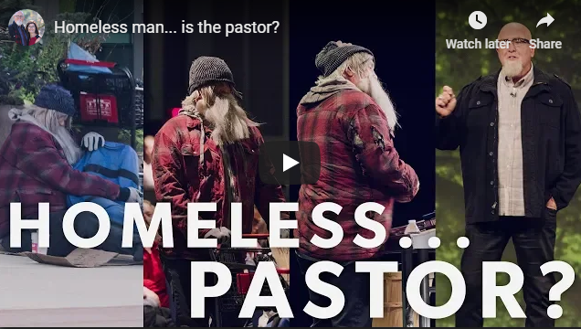 Homeless man… is the pastor?