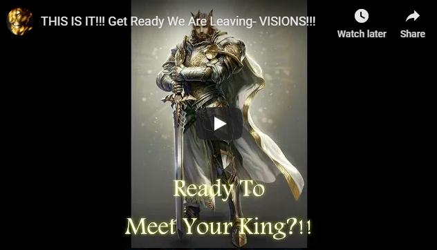 THIS IS IT!!! Get Ready We Are Leaving- VISIONS!!!