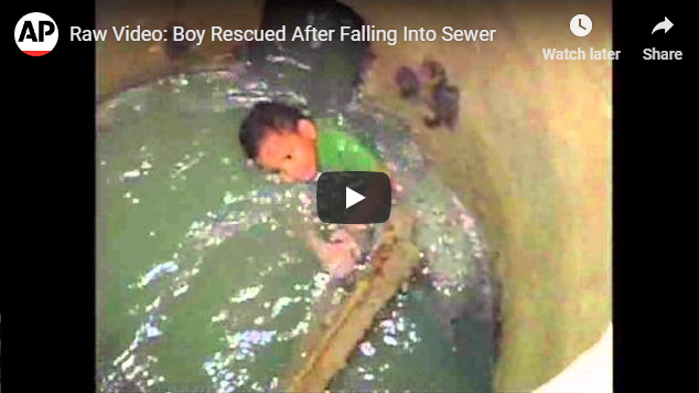 Save a Life | Boy Rescued After Falling Into Sewer