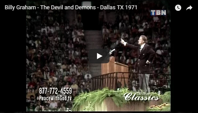 Billy Graham – The Devil and Demons – Dallas TX 1971