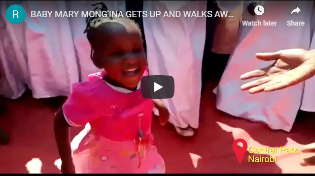 BABY MARY MONG'INA GETS UP AND WALKS AWAY