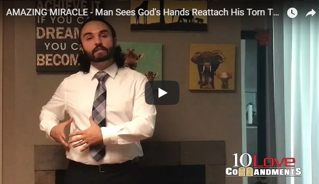 AMAZING MIRACLE – Man Sees God's Hands Reattach His Torn Tendon!
