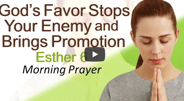 GOD'S FAVOR STOPS YOUR ENEMY AND BRINGS PROMOTION – ESTHER 6 – MORNING PRAYER