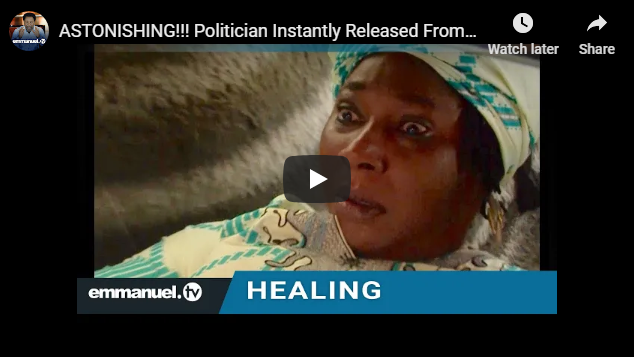ASTONISHING!!! Politician Instantly Released From Crippling Ailments!
