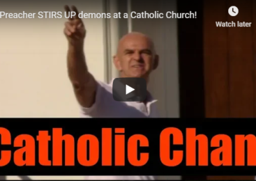 Preacher STIRS UP demons at a Catholic Church!