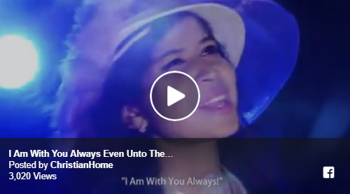 """I Am With You Always Even Unto The End Of The World."""" Worshiper Roma Carolyn"""