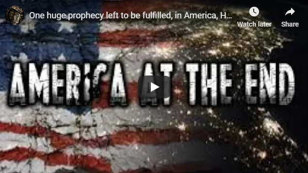 One huge prophecy left to be fulfilled, in America, Hebrews! Then our captivity will be fulfilled!