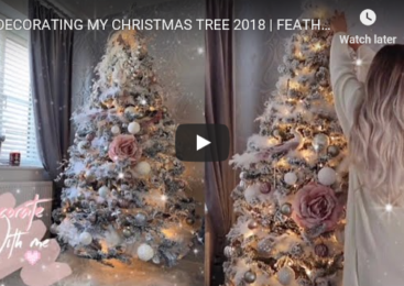 DECORATING MY CHRISTMAS TREE 2018 | FEATHERY, ROSE GOLD, BLUSH PINK | HOW TO STYLE A FLOCKED TREE