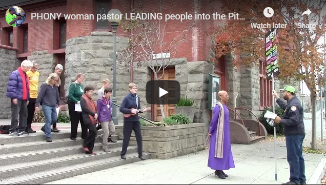 PHONY woman pastor LEADING people into the Pits of Hell