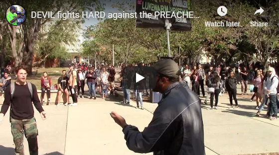 DEVIL fights HARD against the PREACHER on this college campus!