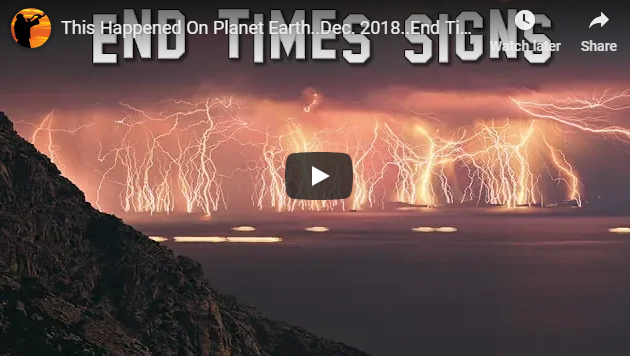 This Happened On Planet Earth..Dec. 2018..End Times Signs
