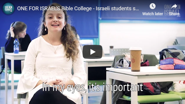ONE FOR ISRAEL'S Bible College – Israeli students share why it's so important