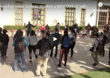 Preacher gives College student a WAY OUT of self-gratification