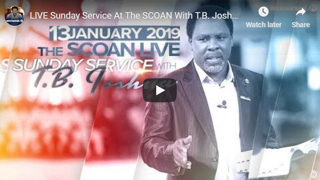 Live Sunday Service At The Scoan With T B Joshua 13 01