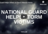 Guard Helps Others as Storm Wrecks Home