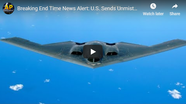 Breaking End Time News Alert: U.S. Sends Unmistakable Message to China – China's Worst Nightmare?