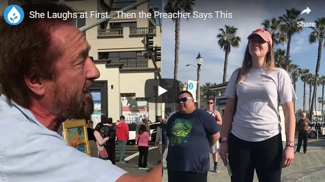 She Laughs at First…Then the Preacher Says This