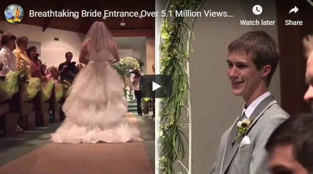 Breathtaking Bride Entrance -So Romantic And Blessed!