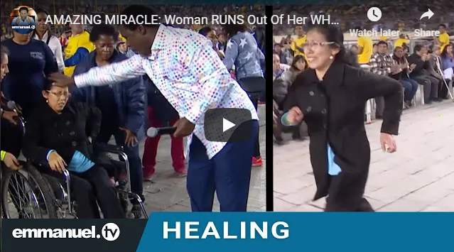 AMAZING MIRACLE: Woman RUNS Out Of Her WHEELCHAIR!!!