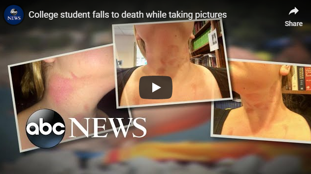 College student falls to death while taking pictures