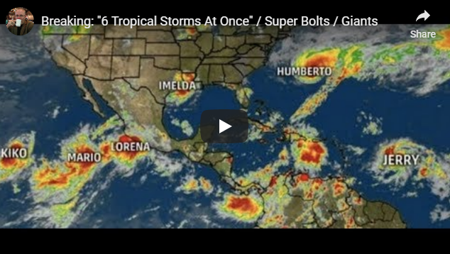 """Breaking: """"6 Tropical Storms At Once"""" / Super Bolts / Giants Paul Begley"""